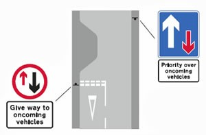 Traffic Calming Road Markings and Signs