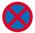 No stopping road sign theory test quiz