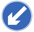 Keep left sign theory test quiz