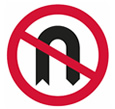 No U-turn sign theory test quiz