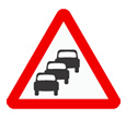 Queues likely theory test road sign