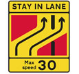 Primary route road works sign for the theory test