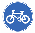 Route for pedal cycles only theory test road sign quiz