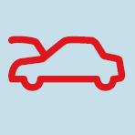 Audi A3 Car bonnet open warning light