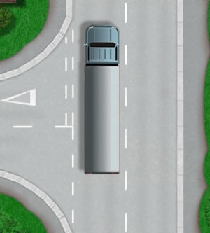 Following a large good vehicle theory test questions