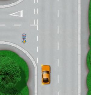 Making a left turn hazard
