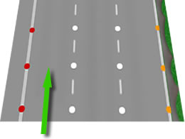 Motorway left lane theory test
