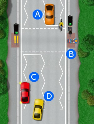 Pedestrian crossing hazard