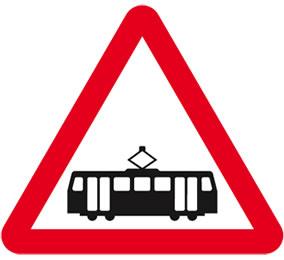 Tram Road Sign