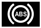 Renault Megane Anti-lock brake-ABS warning light