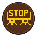 Fiat 500 STOP warning light