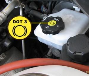 Brake fluid reservoir tank