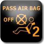 Nissan Juke passenger air bag dashboard warning light
