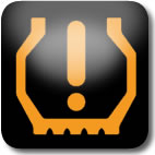 Nissan Juke low tyre pressure dashboard warning light