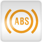 Nissan Micra anti-lock brake system (ABS) dashboard warning light