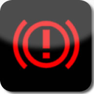 Citroen C1 brake (red exclamation mark) dashboard warning light