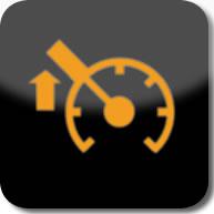 Citroen C1 speed limiter dashboard warning light