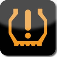 Citroen C1 Tyre underinflation dashboard warning light