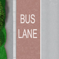 Bus lane theory test
