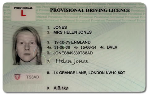 Provisional Driving Licence - Theory Test Documents