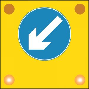 Pass on the left theory test road sign