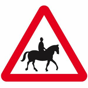Horse riders ahead sign