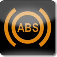 Land Rover / Range Rover / Evoque / Discovery Anti-lock Braking System (ABS) dashboard warning light