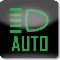Land Rover / Range Rover / Evoque / Discovery front Auto High Beam dashboard warning light