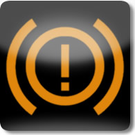 Land Rover / Range Rover / Evoque / Discovery brake (amber exclamation mark) warning dashboard warning light