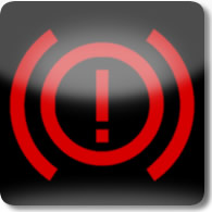 Land Rover / Range Rover / Evoque / Discovery brake (red exclamation mark) warning dashboard warning light