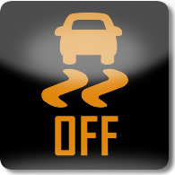 Land Rover / Range Rover / Evoque / Discovery Dynamic Stability Control (DSC) off warning dashboard warning light