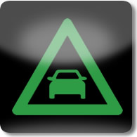 Land Rover / Range Rover / Evoque / Discovery forward alert dashboard warning light