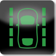 Land Rover / Range Rover / Evoque / Discovery lane departure warning system (green) dashboard warning light