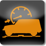 Land Rover / Range Rover / Evoque / Discovery progress control dashboard warning light
