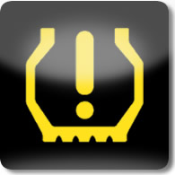 Land Rover / Range Rover / Evoque / Discovery tyre pressure monitoring system dashboard warning light