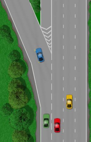 Y-junctions on dual carriageways and motorways
