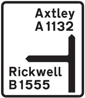 Major road, Non-primary route road sign