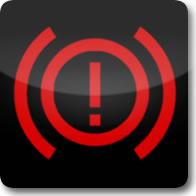 Mercedes Benz brake system dashboard warning light