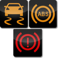 Mercedes Benz ESP /ABS / Brake dashboard warning light