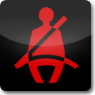 Mercedes Benz seat belt dashboard warning light