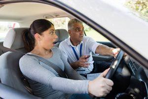Driving examiners abandoning test