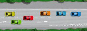 Lane straddling