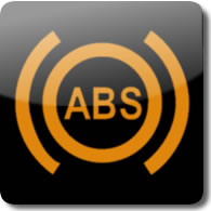 Honda Antilock Brakes (ABS) dashboard Warning light symbol