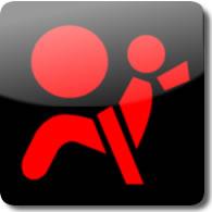 Honda Airbag dashboard Warning light symbol