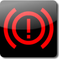 Honda brake dashboard warning light symbol