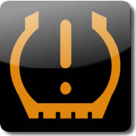 Honda Low Tyre Pressure dashboard Warning light symbol