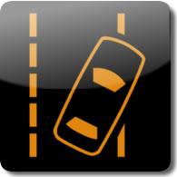 Honda Road Departure Mitigation Warning light symbol