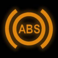 ABS fault warning light