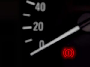 Car dashboard brake warning light explained