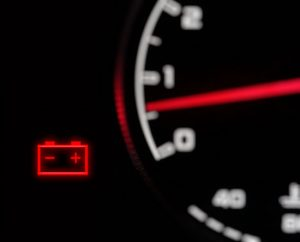 Why is the car battery warning light on explained